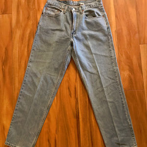 Levis 550 Light Blue Jeans Relaxed Fit Mens 32